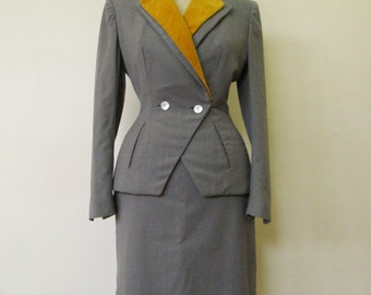 Tailor of the 1950s - Vintage from fifties - 2 parts - skirt and jacket