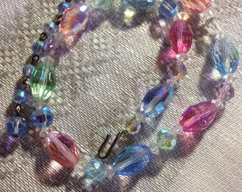 Vintage Crystal beaded choker necklace