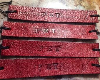 Pet Kink Inspired Tie Up Leather Fandom ID Bracelet