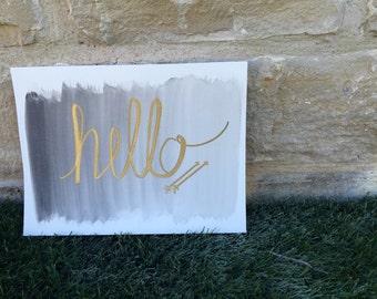 Hello Black Gold 9x12 Print