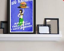 Big Kahuna Burger - Pulp Fiction Inspired - Movie Art Poster