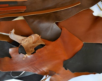Leather Scraps - craft leather