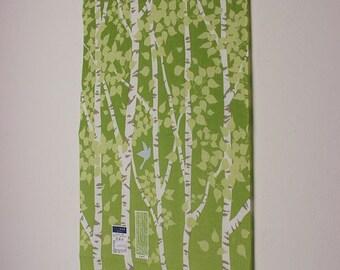 Tenugui Japanese Hand Towel White Birch Design