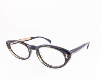 Vintage 60s Cateye Eyeglasses | Olive Green Cat Eye Glasses | NOS Eyeglass Frame | Deadstock Eyewear - Velma Olive