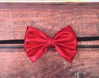 Red Bow Headband, Christmas Headband, Snow White Headband, Red Bow, Snow White Bow, Holiday Headband, Black and Red Headband, Ladybug