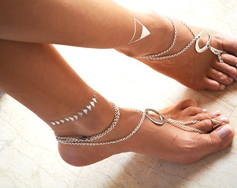 "Women Barefoot Sandals ""Circle of life"""