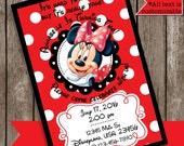 Minnie Mouse Invitations, Red Invitations, Birthday Invitations, Girl Invitations, Minnie Mouse Party