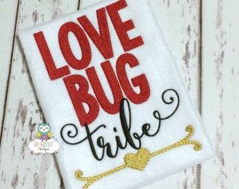 Love Bug tribe Shirt or Bodysuit, Girl Valentine Shirt, Little Miss Love Bug, Little Miss Shirt, Little Miss Valentine