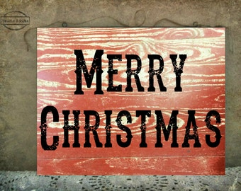 Merry Christmas Rustic Sign, Rustic Merry Christmas Sign, Merry Christmas Sign, Shabby Chic Merry Christmas Sign , Christmas Sign Rustic