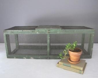 Vintage Animal Cage, Large Primitive Handmade Cage