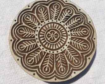 Indian Wood Block Stamp Circle