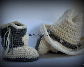 Baby Cowboy Boots and Hat/Western Cowboy Set