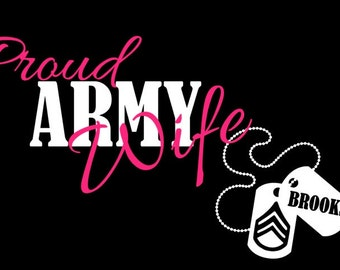 Proud Army Wife Decal - Military Decal - Army Decal - US Military Decal