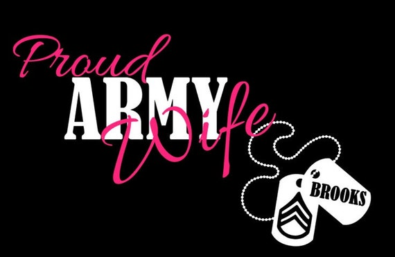 Proud Army Wife Decal Military Decal Army Decal US