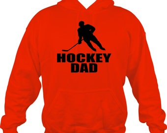 Hockey Dad Sweatshirt/ Hockey Sweatshirt/ Hockey Dad Hoodie Sweatshirt/ Hockey Dad Gift