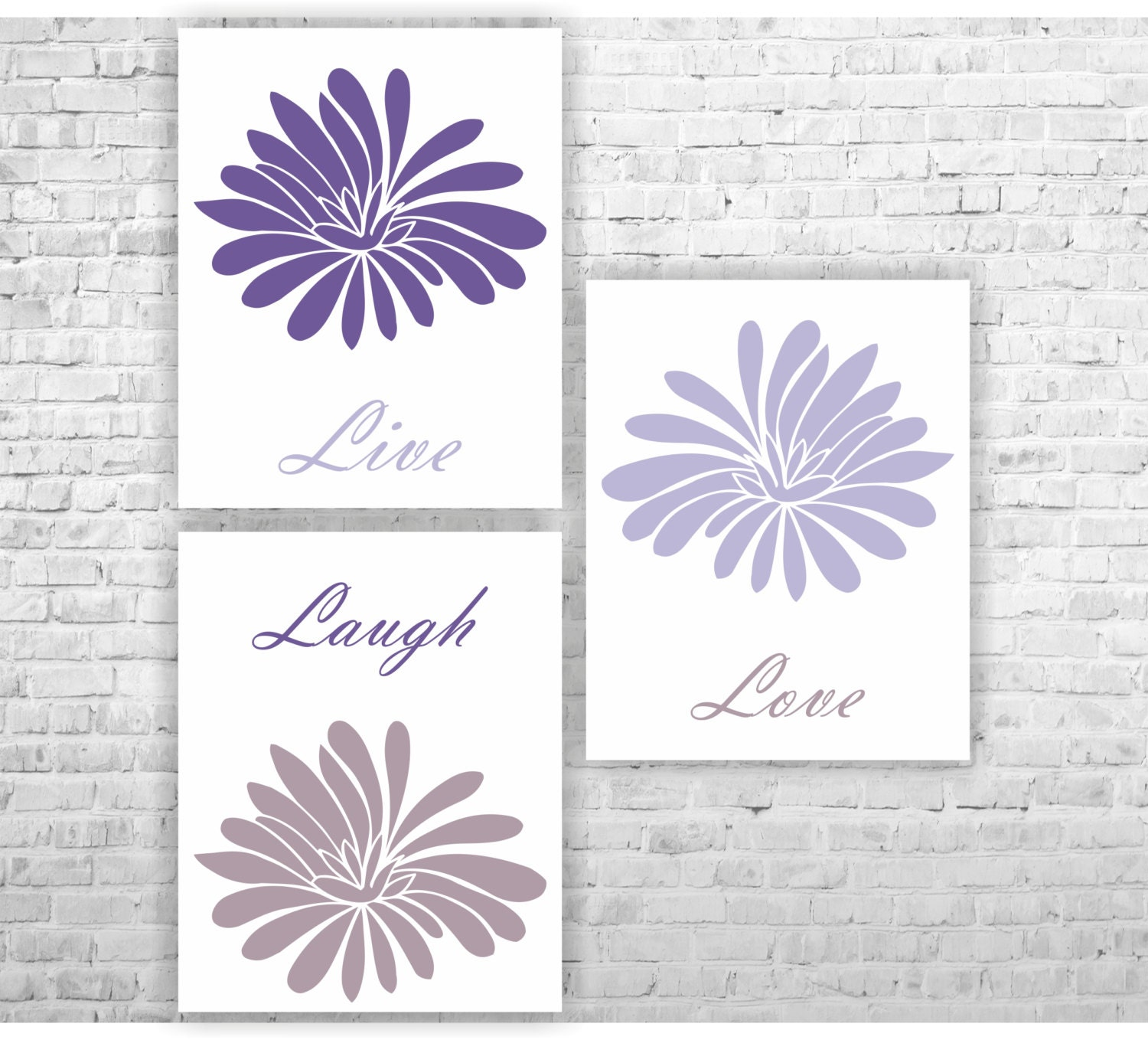 Live Laugh Love Home Decor Wall Art Navy Blue And Light Blue