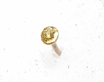 """Nose Stud """" Just pure Gold """" solid 18k and 24k Gold"""