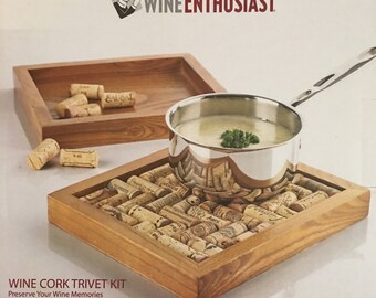 WineEnthusiast Wine Cork Trivet Kit