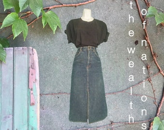 VINTAGE DENIM MINI Skirt by Liz Claiborne