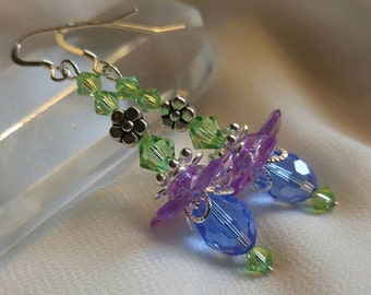 Spring Sparkle Flower Earrings