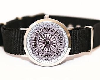 WATCH - Heart Garden- Kaleidoscope Mandala style watch