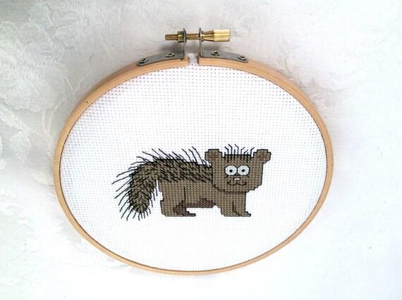 Knitting Room Fond Du Lac : Porcupine cross stitch pattern animal embroidery cute