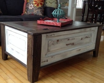 coffee table hand made distressed