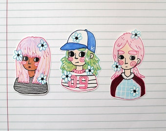 Girlfriends Sticker Set #3