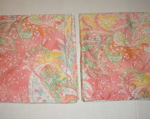 Ralph Lauren Sateen Fabric Jamaica Paisley Euro Sham Set 100% Cotton 450TC Like New