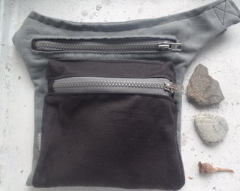 Canvas Hip Bag Grey