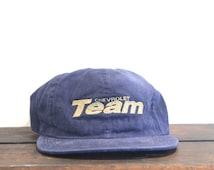 Vintage 90's Team Chevrolet Chevy Cars Trucks Bowtie Unstructured Strapback Hat Baseball Cap