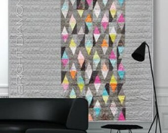 Bright Diamonds Quilt Pattern - Zen Chic - Brigitte Heitland - Moda - Flow - BDQP