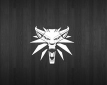 The Witcher Wolf Medallion inspired decal