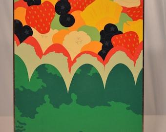 Herman Miller Steve Frykholm Fruit Salad Picnic Poster 1977
