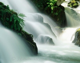 Photo Card, Waterfall, Greeting card, square, blank inside for your message