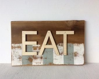 Eat Barn Wood Wall Sign