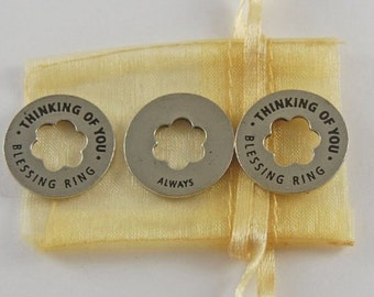 Set of 3 Thinking of You Blessing Coins with Organza Bag