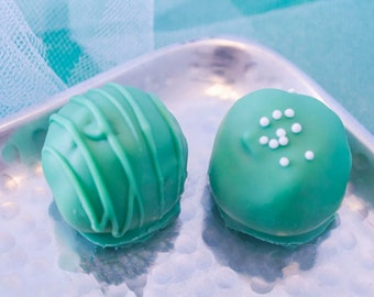 Assorted Cake Balls, One Dozen St. Patrick's Day Chocolate Dipped Cake Balls