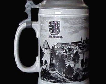 Vintage Villeroy & Boch Beer Stein Septfontaines Made in Luxembourg
