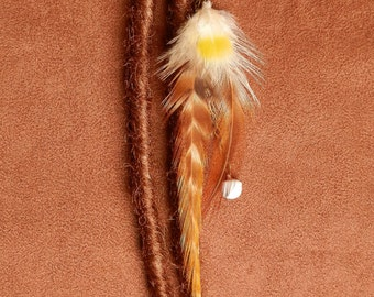 Jewelry for Dreadlocks ethnic hippy Boho feathers natural grelot