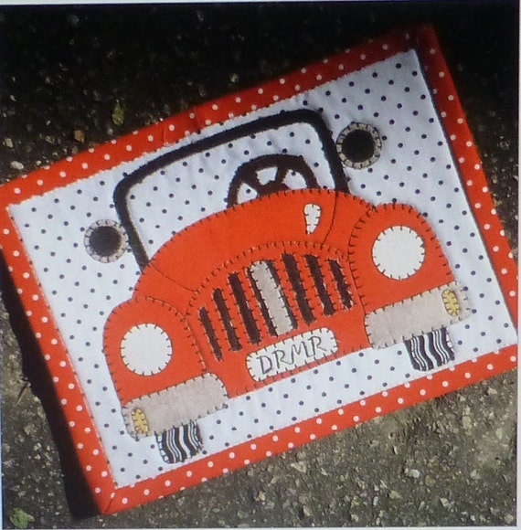 DREAMER CAR Laser Cut Mug Rug Kit Applique Kit Sewing Kit