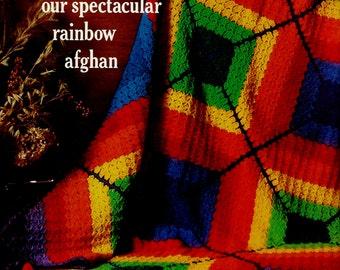 Rainbow Afghan Vintage Crochet Pattern Download
