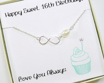 Sweet 16 Birthday Gift, 16th Birthday Gift, 16th Birthday Girl, Birthday Gift for Daughter, Sweet Sixteen, Birthday Ideas, Infinity Necklace