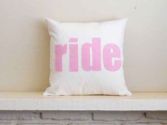ride pillow / cover / equestrian decor / horse pillow / horse decor / cushion / equestrian pillow / horse lover gift /word pillow
