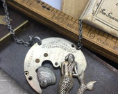 Steampunk Mermaid necklace - Original Design - Unique -  artisan jewelry The Victorian Magpie