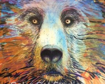 Poster of 'Oh, My!' Bear Painting