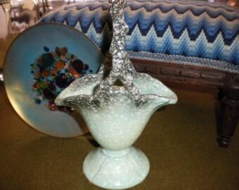 Hull Pottery Basket/Vase