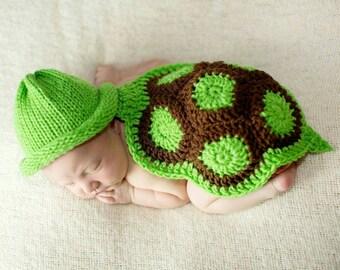Baby Boy Turtle Outfit Newborn Crochet Turtle Outfit Baby Boy Turtle