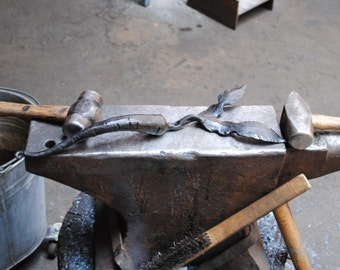 Hand-Forged Carrot Shaped Door Handle