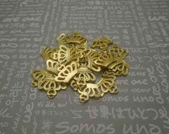100pcs gold color metal crown pendant , metal crown charm , 21x17mm , CP1082